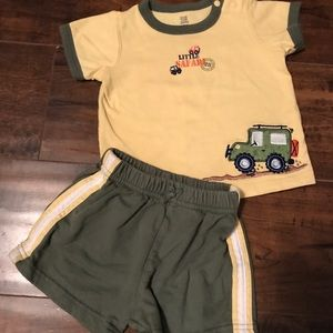 Other - Boys 6 mos cotton shorts outfit